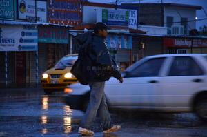 Desde la madrugada la lluvia no ha parado.