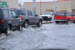 En algunos sectores se presentaron inundaciones.