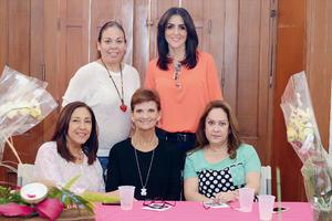 13032016 EN RECIENTE EVENTO.  Rocío, Maco, Juanina, Imelda y Lupita.