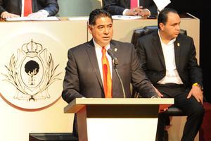 """Antes de su mensaje, el mandatario recordó al recién fallecido exalcalde de Gómez Palacio, Carlos Herrrera Araluce, de quien dijo fue un hombre que """"entregó su vida por La Laguna""""."""