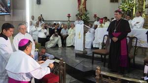 Monseñor José Fortunato realizó su profesión de fe y asimismo pronunció el juramento de fidelidad a la Santa Sede.