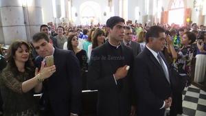 El gobernador de Durango, Jorge Herrera Caldera y el alcalde de Gómez Palacio, José Miguel Campillo, estuvieron presentes en la catedral.