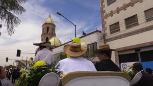 El contingente salió por la calle Ignacio de la Llave y dobló por toda la avenida Victoria, hasta llegar a la Independencia y hacer su arribo a la catedral de Santa María de Guadalupe.