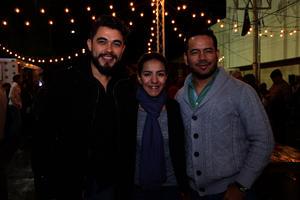 Humberto, Adriana y Carlos