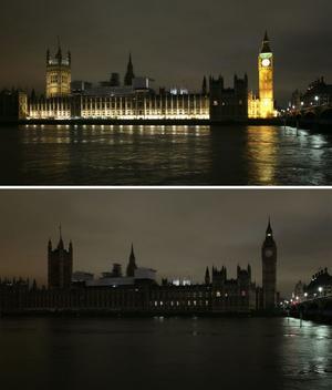 Para el tiempo. El Big Ben de Londres así lució.