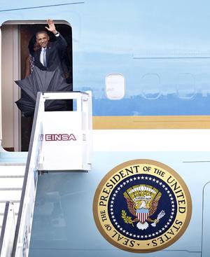 Obama viajó acompañado de su esposa Michelle, sus hijas Malia y Sasha y su suegra Marian Robinson.