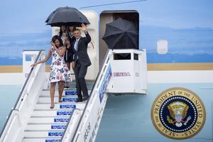 Obama arribó a Cuba luego de casi 90 años que no se realiza la visita de un mandatario estadounidense a la isla.