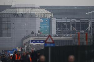 Las marcas de las explosiones se podían observar en la fallada del aeropuerto de Zaventem.