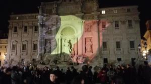 La Fuente de Trevi, en Roma (Italia).