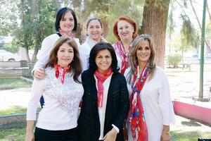 21032016 FESTIVAL DE LA ROSA.  Yadira, Laurita, Tita, Susy, Magda y Nora.