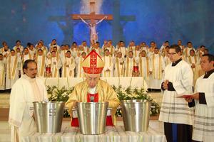 Horas antes, el Obispo de Torreón había presidido la Misa Crismal.