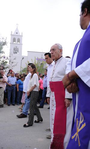 El Obispo de Torreón José Guadalupe Galván Galindo participó en la magna celebración.