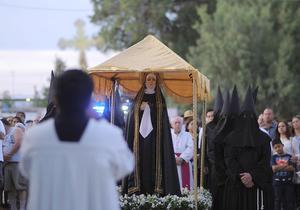 Alrededor de 200 participantes provenientes de distintos puntos de la Comarca Lagunera y del propio municipio participaron en la procesión.
