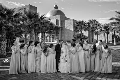 27032016 Martha Angélica García Ríos y José Manuel Mondragón García estuvieron acompañados por sus damas, entre ellas, la hermana de la novia, primas y amigas.- JC Studio