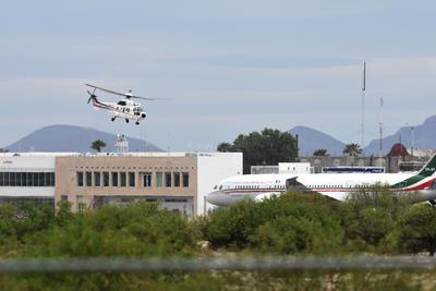 Posteriormente, Peña Nieto se trasladó en helicóptero hasta el lugar del evento.
