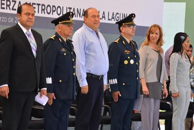 El gobernador Rubén Moreira y el Mando Especial, Juan Manuel Díaz Organitos encabezaron la presentació.