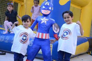 03042016 CUMPLEN AñOS.  Alegre fiesta infantil fue ofrecida para Yael y Jamil.