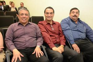 06042016 Luis Martín Granados, Marco Antonio Martínez y Eduardo Prado.