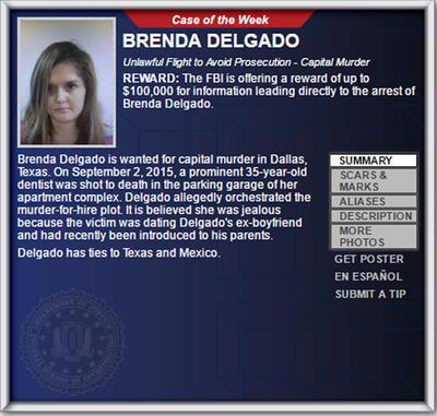 Brenda Berenice Delgado Reynaga fue detenida en la colonia Las Torres, al oriente de Torreón, por elementos de la Agencia de Investigación Criminal (AIC) de la Procuraduría General de la República (PGR).