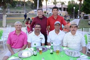 09042016 GOLFISTAS.  Luis, Jorge, Guillermo, Baltazar, Isidro y Ricardo.