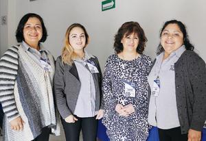 11042016 EN TALLER.  María de Jesús Ramírez, Karen Montes, Irene Mujica y Martha Medina.