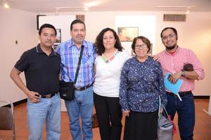 15042016 EVENTO CULTURAL.  Salvador, Antonio, Sandra, Ana María, Omar.