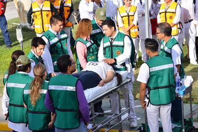 La Unidad Médica de Alta Especialidad número 71 del IMSS realizó un exitoso simulacro.