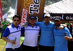 Alejandro, Rodrigo, Alfonso y Pepe