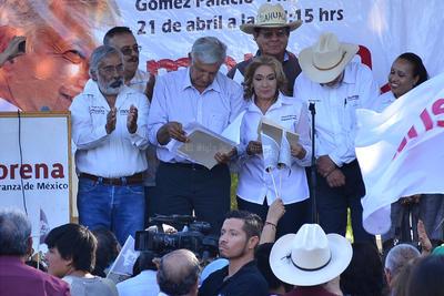 Además de Durango, Obrador también realiza gira por otros estados como Aguascalientes y Zacatecas.