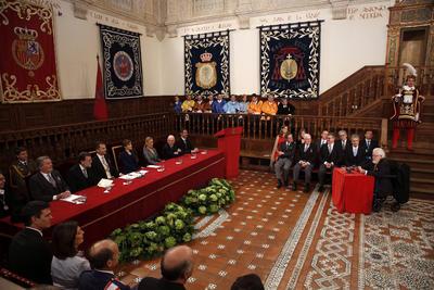 La ceremonia se realizó en el Paraninfo de la Universidad de Alcalá de Henares, al este de Madrid.