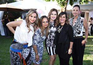 18042016 EN EL CUMPLEAñOS DE CLAUDIA.  Ana Guerra, Laura Pedroza, Estefanía Gómez y Silvia Padilla acompañaron a Claudia Campo en su fiesta.