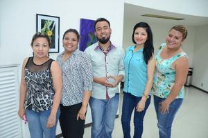 24042016 Martha, Alejandra, Daniel, Cecy y Rocío.