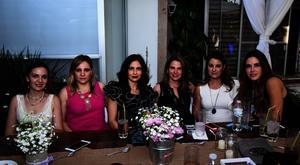 Georgina Cantú, Alicia Acosta, Isabel Máynez, Gaby del Bosque, Karina Espeleta y Ana Máynez