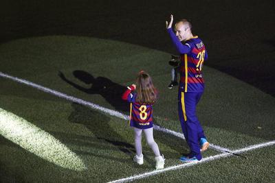 El festejo fue de tono familiar, ya que la mayoría de los jugadores se presentó con sus hijos.