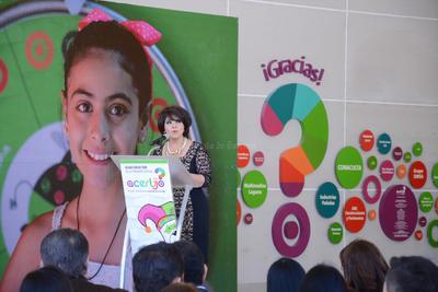 La presidenta del DIF estatal, Tere Álvarez, dirigió unas palabras a la ciudadanía en la inauguración de este nuevo espacio.