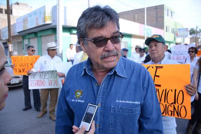 Héctor Medinaveitia, secretario sindical de la UAAAN, dijo que la Ley retira la responsabilidad al gobierno estatal de dar una pensión digna a los trabajadores.