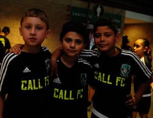 Víctor, Gael y Cristian
