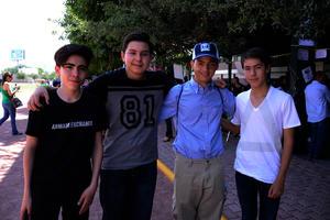 Memo, Héctor, Antonio y Alejandro