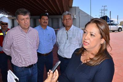 """María Esther Monsiváis Guajardo, secretaria de la Sein informó que """"entre los tres niveles de gobierno estamos trabajando coordinadamente, vamos a analizar todos los aspectos (...) y se harán las reparaciones correspondientes...""""."""