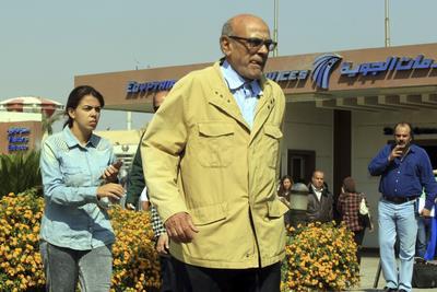 Familiares empezaron a reunirse en las oficinas del aeropuerto egipcio.