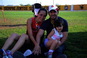 Nora, Renata y Alfredo