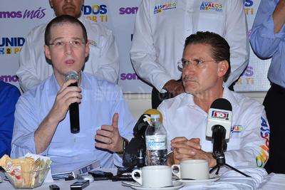 Ricardo Anaya, líder nacional del PAN, dijo que tiene la firma convicción de que Aispuro ganará en las elecciones en Durango.