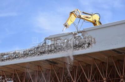La demolición tardará cuatro semanas.