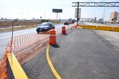 Esta ruta alterna ya fue señalizada. Se colocaron trafi-tambos con arenas, ballenas de concreto y habrá vigilancia vial.