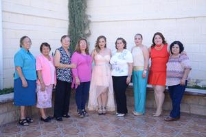 29052016 Juanita, María de Jesús, Manuela Aguirre, Yolanda Triana, Iliana Mijares, Beatriz Míreles, Elizabeth Mijares, Maritza Jáquez y María Jáquez Aguirre.