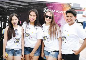 22052016 EN EL COLOR MUSIC FEST.  Eunice, Fernanda, Sara y Ana.