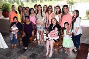 22052016 SERá MAMá.  Pamela de la Peña en el baby shower que le organizaron Silvia Casillas Hernández, Mayela Casillas Hernández y Anastasia Hernández.