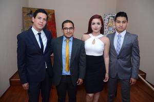 04052016 Miguel Zaragoza, Lael Miyar, Cynthia González e Isaí Maní.