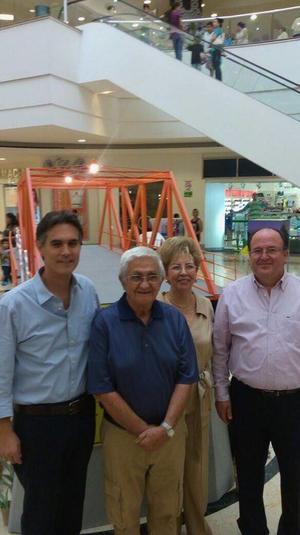 17052016 EN INAUGURACIóN.  Rafael Rebollar, Rubén Samano, Aurorita Máynez y Luis Arturo Dávila.