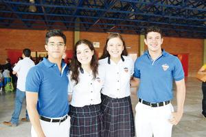 15052016 Daniel Macías, Andrea Ortiz, Laura Díaz y Hugo Trejo.